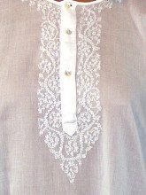 chemise brodée main