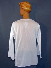 chemise en voile de coton blanc