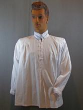 chemise à jabot amovible
