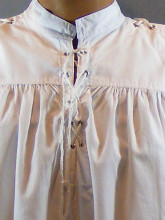 chemise blanche sans col