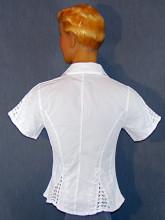 chemise en coton blanc brodée