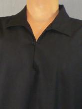 chemise noire bouffante